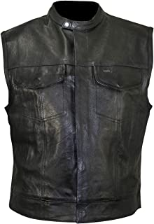 lightweight leather motorcycle vest