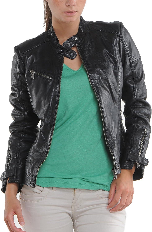100% New Genuine Leather Lambskin Women Biker Motorcycle Jacket Ladies LTN260