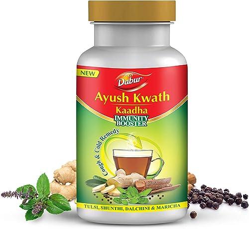 DABUR Ayush Kwath Kaadha 100 Ayurvedic Kaadha for Immunity Boosting and Cough Cold 200 g