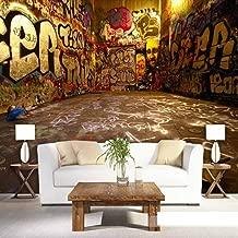 WPFZH 3D Mural Custom Retro Graffiti Stereo Color Letters Photo Mural Wallpaper Cafe Restaurant KTV Spatial Extension Personality Fresco-300x210cm