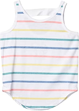 Recycled Vintage Jersey Scoop Back Shirttail Tank (Toddler/Little Kids)