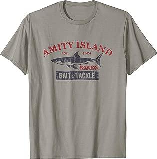 Amity Island Bait and Tackle Retro Fishing T-Shirt