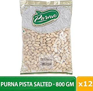 Purna Pista Salted - 800 gm(big)(Pack of 12)