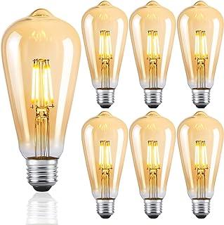 LED Lampen E27 ST64 Retro LED Dimmbare Glühbirnen Warmweiß 2700K Energiesparlampe Retro Glühbirne 360 ° Grad Strahlwinkel ...