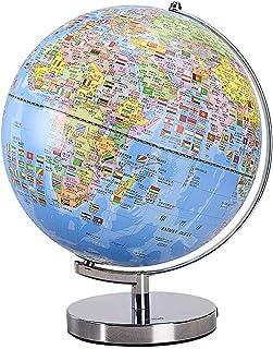 Globe, 32 cm präglad Globe 3D tredimensionell flytande Smart AR-skrivbordsdekorationer med lampor för vardagsrumsdekoration