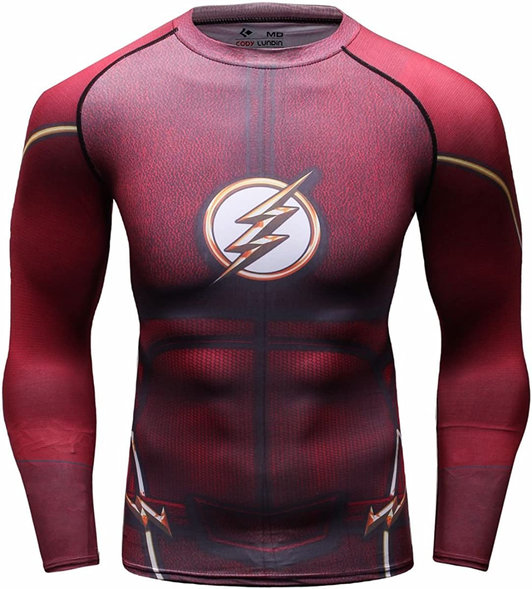 Sales of SALE items from new works Red Plume Men's Compression Sports Cool Lightning Regular discount Ru Flash Shirt