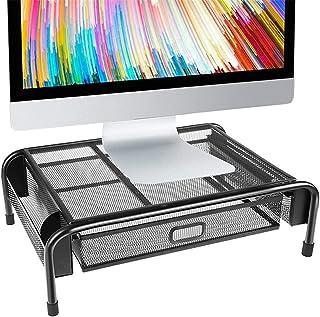 SHYPT Support de Moniteur, Support d'imprimante en Maille métallique, avec tiroirs et Poches latérales, Peut contenir des ...