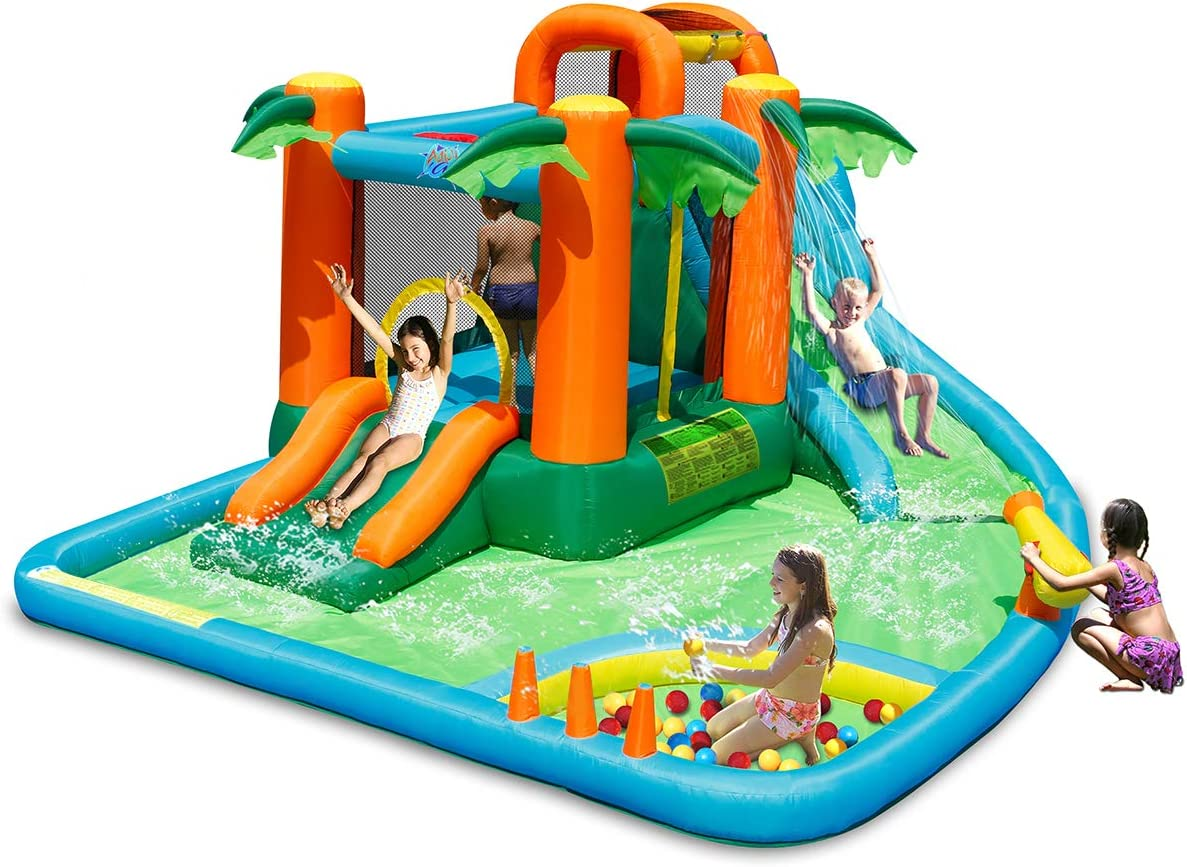 Costzon Finally resale start Inflatable Brand new Water Slide 7 in Park w 1 Two Jungle