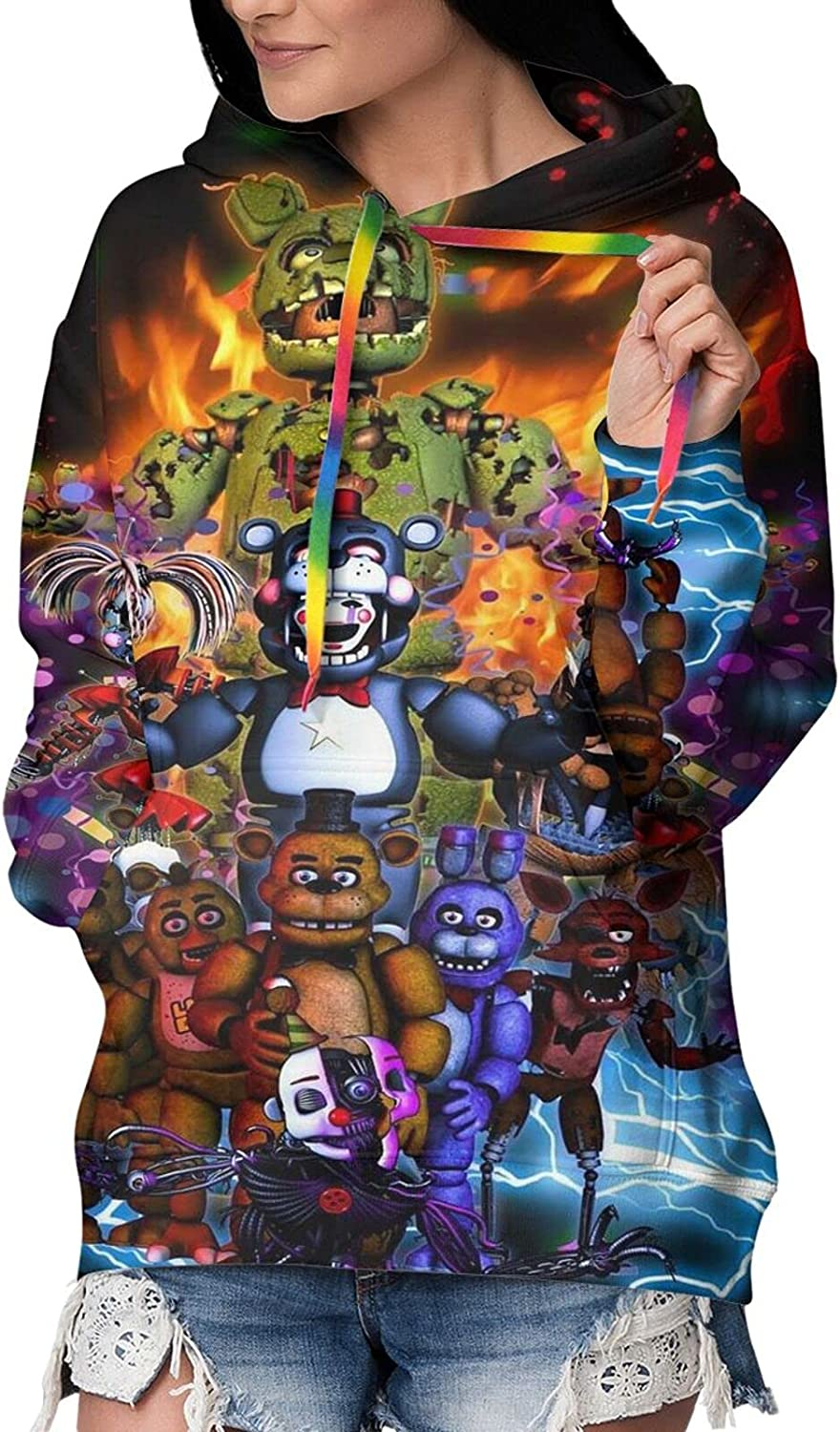 Five Nights At Freddy'S Womens online shopping Fleece 3d Liner G New mail order Hoodies Printed