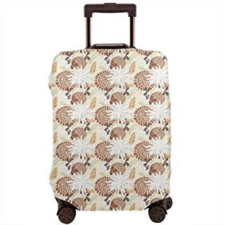 Travel Luggage Cover,Coming Of The Spring Blossoming Petals Leaves Suitcase Protector
