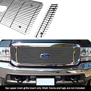 APS Compatible with 99-04 Ford F250 F350 Super Duty Excursion Main Upper Billet Grille F65707A