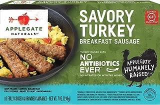 Applegate, Natural Savory Turkey Breakfast Sausage, 7oz (Frozen)
