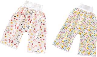 Jelord - Pantalones Cortos Falda de Pañal Bebé Niños Niñas Cómodos Calzoncillod Reutilizables de Entrenamiento de Algodón ...