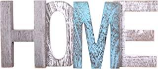 """Comfify """"Home"""" Decorative Wooden Letters – Large Wood Letters for Wall Décor in Rustic Blue, White and Grey – Rustic Home Decoration for Living Room - Rustic Home Décor Accents – Farmhouse Decor"""