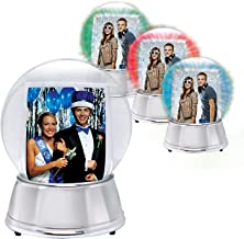 Neil Enterprises LED Light Up Photo Snow Globe (Silver, Large)