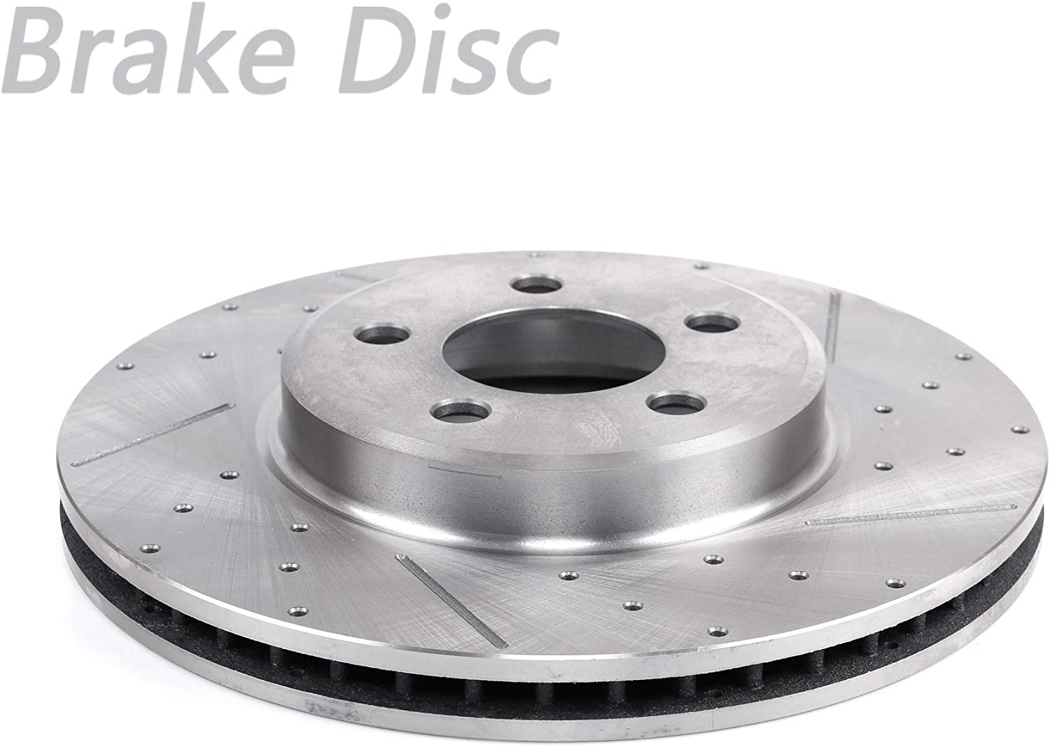 Ranking TOP6 HAIHUA 1pc Front Right Drilled Slotted Outstanding Vented Disc Rotor Brake 5