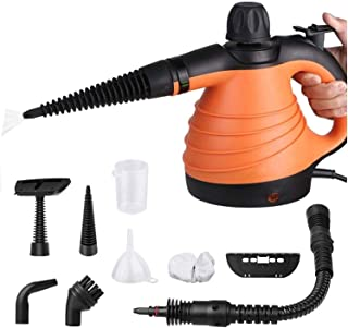 SIMBR Vaporeta de Mano Portátil y Manual de Alta Presión, Limpiador a Vapor con Potencia de 900W, Tanque de 250ml y 9 Acce...