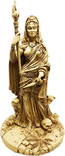 Greek White Goddess Hecate Sculpture Athenian Patroness Of Crossroads Witchcraft Dogs And Poisonous Plants Statue