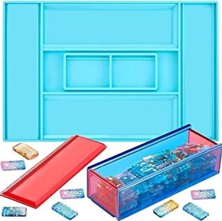 Dominoes Storage Box Resin Mold, Domino Box Epoxy Resin Craft Mold DIY Jewelry Gifts Box, Durable Silicone Mold for Jewelr...