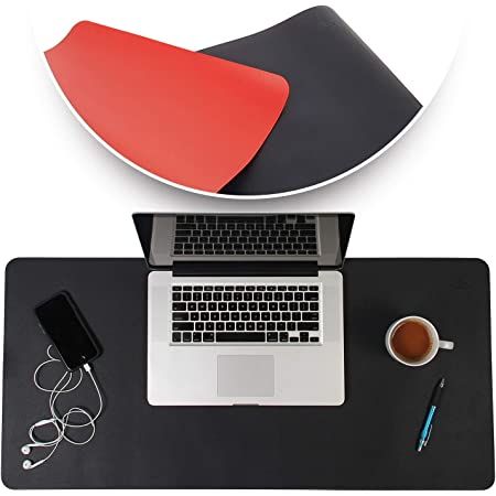 Details about  /Leather Gaming Desk Pad Protector with PU Leather Laptop Desk Mat Desk Mouse Pad
