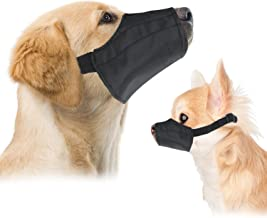 Downtown Pet Supply Quick Fit Dog Muzzle with Adjustable Straps, Black Nylon, Size 0, Size 1, Size 2, Size 3, Size 4, Size 5, Size 3 XL, Size 4 XL, or Size 5 XL