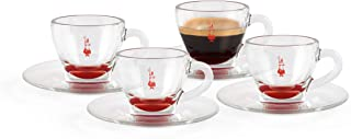 Bialetti DCRAST0009 Set of 4 Red Glass Mugs, Red