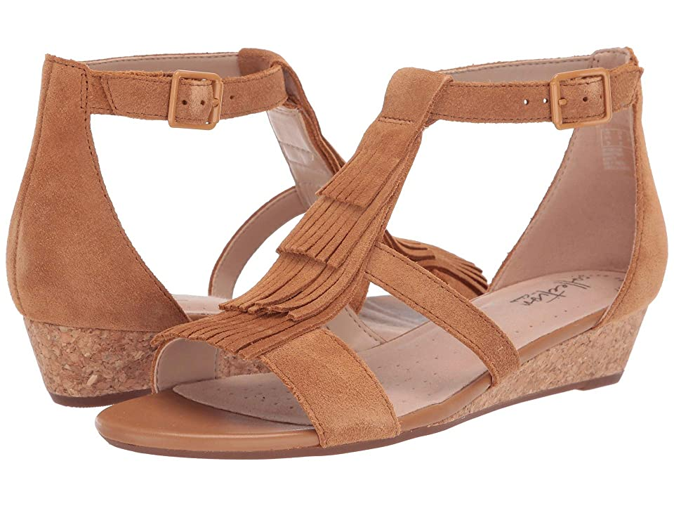 7f430afd371b Clarks Abigail Sun (Tan Suede) Women s Wedge Shoes