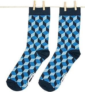 Roits, Calcetines 3D Azules 41-46 - Calcetines Originales de Colores Hombre