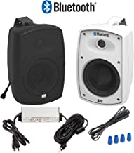 "OSD Audio 5.25"" Bluetooth Outdoor Patio Speaker –Wireless Pair, White - BTP525"