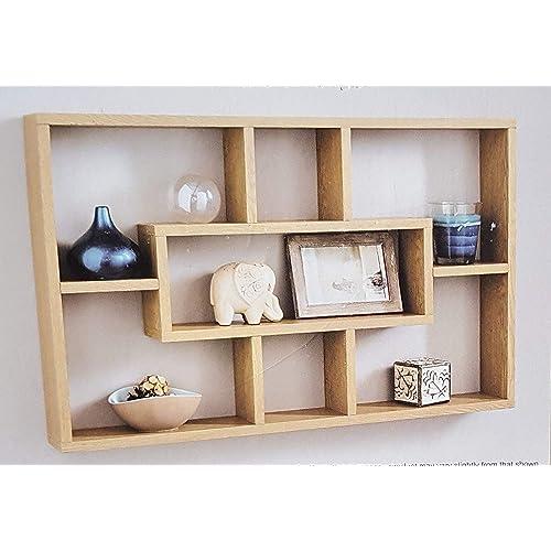 Wall Bookshelve: Oak Wall Shelves: Amazon.co.uk