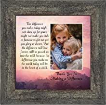Crossroads Home Décor The Difference I Make Today, Teacher Appreciation Gift, Picture Frame for Parents, 10x10 6394BW