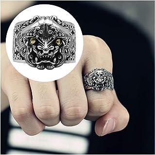 خاتم رجالي من الفضة الإسترلينية خاتم خطوبة من الفضة الإسترلينية S925، لا يسبب الحساسية، أفضل خيار للهدايا