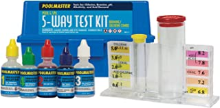 Poolmaster 22260 5-Way Swimming Pool or Spa Water Chemistry Test Kit with Case, Essential Collection