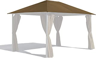 GRASEKAMP Qualität seit 1972 Ersatzdach 3x4m Gartenpavillon Nizza Taupe Pavillon Partyzelt