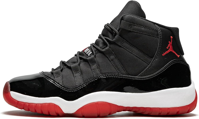 Amazon.com: AIR Jordan 11 Black RED (GS) 378038-010 : Clothing ...