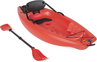 Best Choice Products 6ft Kids Kayak with Paddle, Cushioned Backrest, Storage Compartment, Wheel