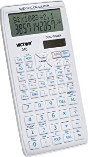 Victor 940 10-Digit Advanced Scientific Calculator with 2 Line Display, Battery and Solar Hybrid Powered LCD Display, Grea...