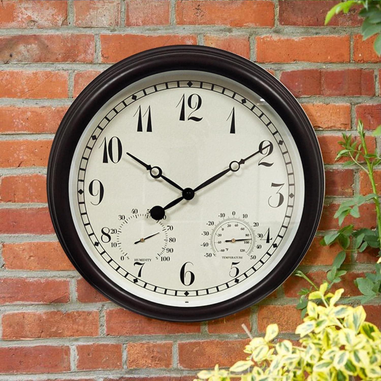 Garden Clock Large Choice Outdoor Max 70% OFF 15 W Quartz inch Metal