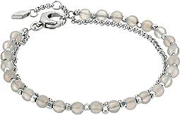 Fossil - Silver Semi-Precious Double-Chain Bracelet