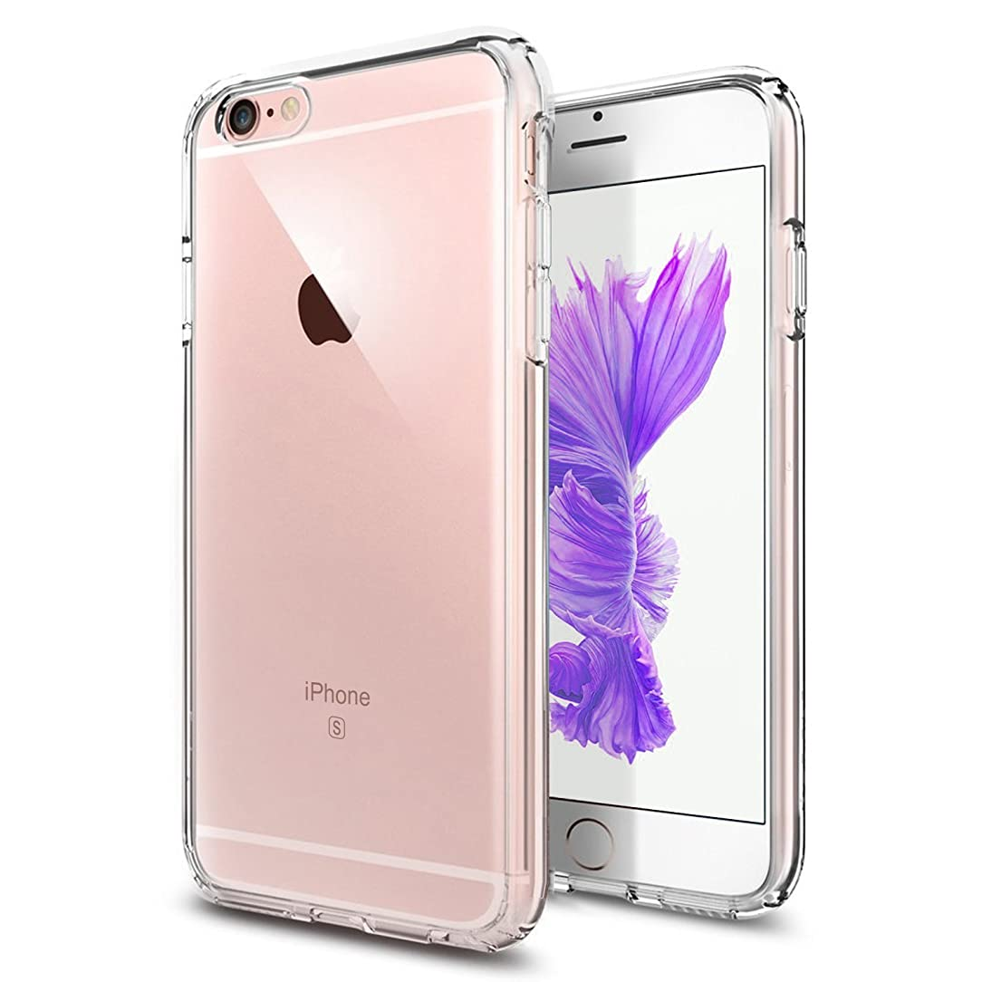 TENOC Case Compatible for Apple iPhone 6 and iPhone 6S 4.7 Inch, Crystal Clear Soft TPU Cover Full Protective Bumper