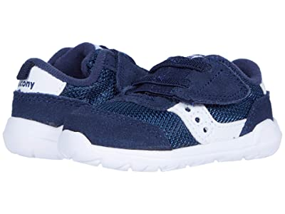 Saucony Kids Originals Jazz Riff Crib (Infant) (Navy/White) Boys Shoes