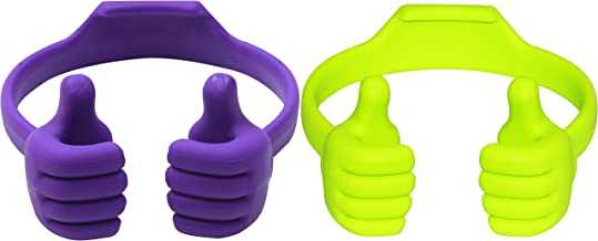 Honsky Thumbs-up Phone Stand for Tablets, E-readers and Smart Phones - 2 Pack - Green, Purple