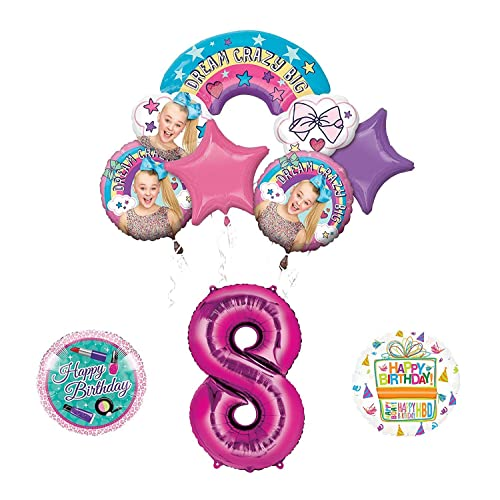 Mayflower Products JoJo Siwa 8th Birthday Balloon Bouquet Decorations And Party Supplies