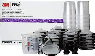 3M 26000 PPS 2.0 Spritzpistole, Becher, Deckel und Liner Kit, Standard, 200 Mikron Filter, 623 ml