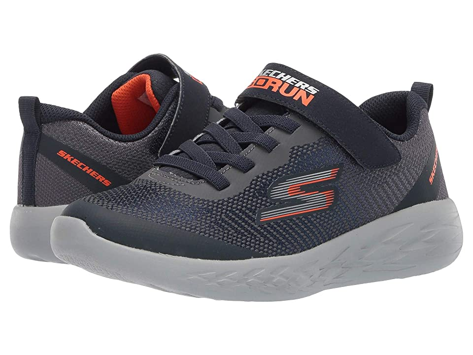 SKECHERS KIDS Go Run 600 (Little Kid/Big Kid) (Navy/Charcoal) Boy