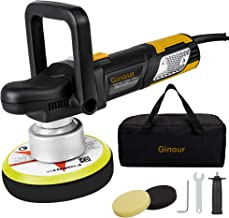 Ginour Polisher, 7.5A 6-inch Variable Speed Dual-Action Random Orbit Car Buffer Polisher with D-Handle & Side Handle, 6400RPM, Packing Bag, 2 Foam Disc for Car Polishing and Waxing