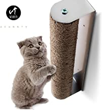 Scurrty Wall Mounted Cat Scratching Post with Natural Sisal Rope Durable Replaceable for Large cat and Small cat 3.6 x 2.8 x 17.8 inches