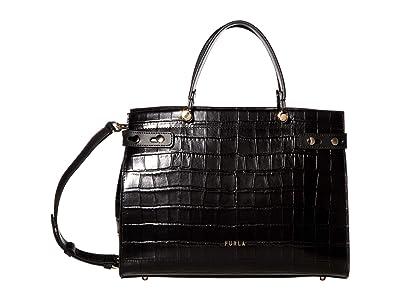 Furla Lady M Medium Tote (Nero) Handbags