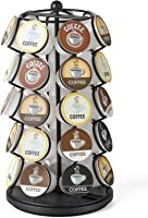 Nifty Coffee Pod Carousel – Compatible with K-Cups, 35 Pod Pack Storage, Spins 360-Degrees, Lazy Susan Platform, Modern...