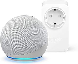 Nuevo Echo Dot (4.ª generación), Blanco + Amazon Smart Plug (enchufe inteligente WiFi), compatible con Alexa